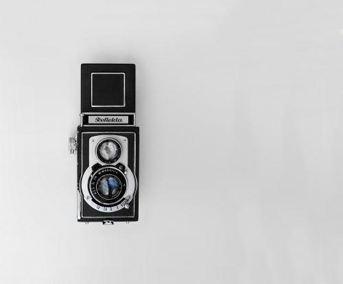 camera vintage black and white