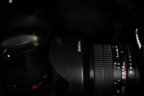 camera the background black