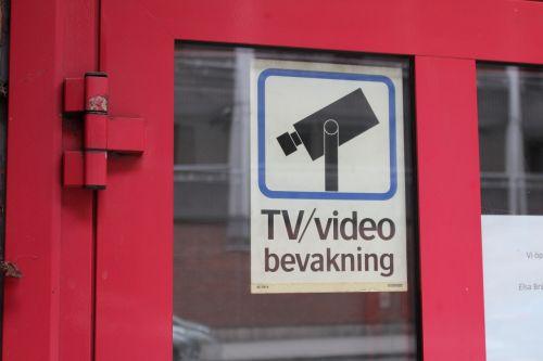 camera surveillance monitoring sign