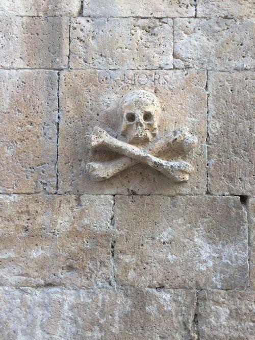 camino santiago church skull