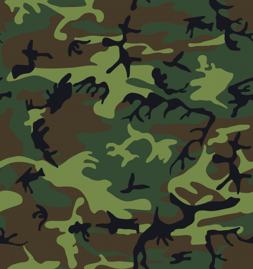 camouflage green brown