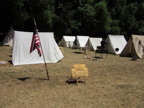 camp civil war flag
