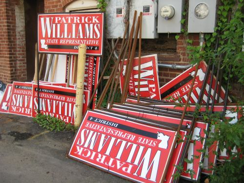 campaign election signs