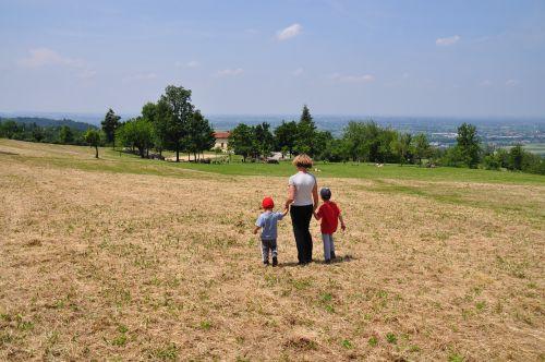 walk green field