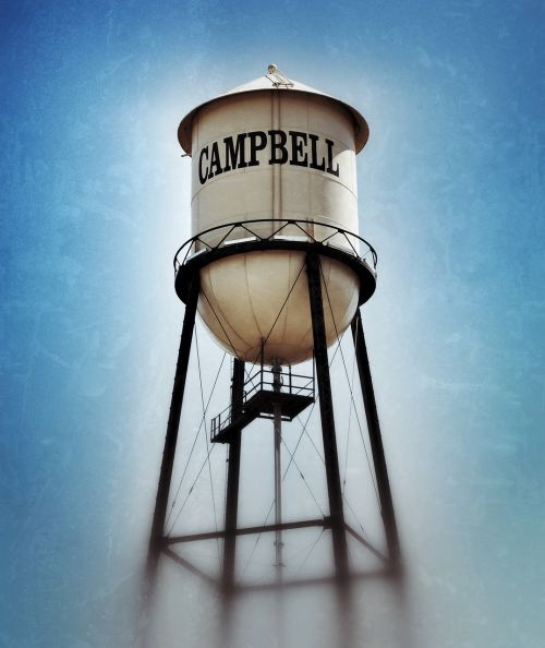 campbell california campbell water tower campbell landmark
