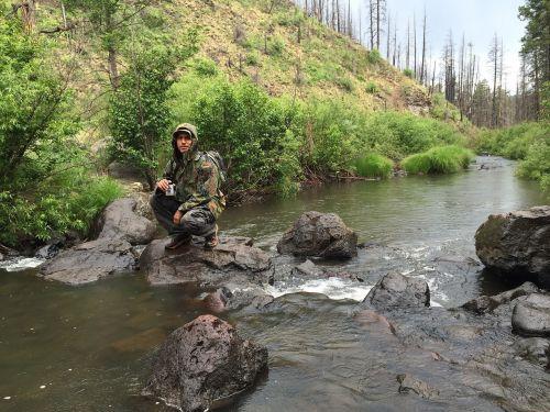 camper river nature