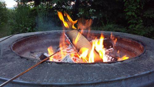 campfire camping bonfire