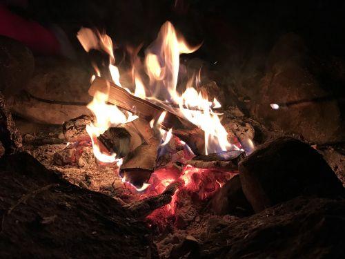 campfire darkness birch