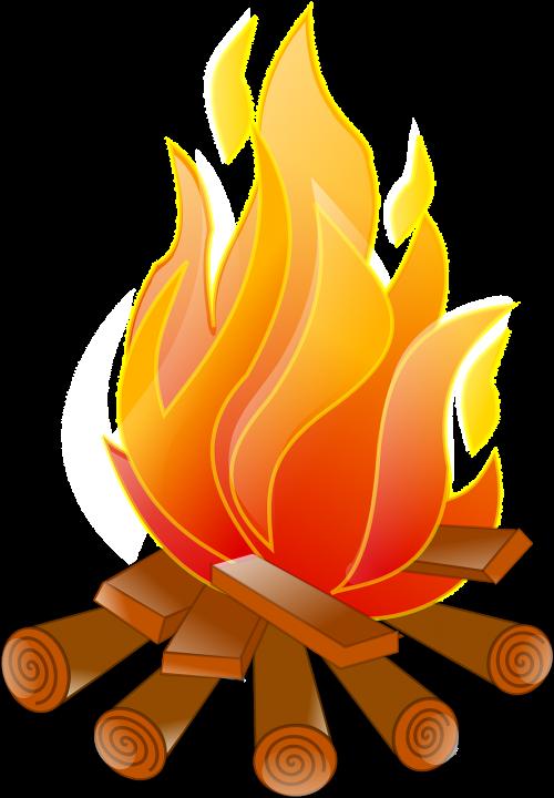 campfire fire logs