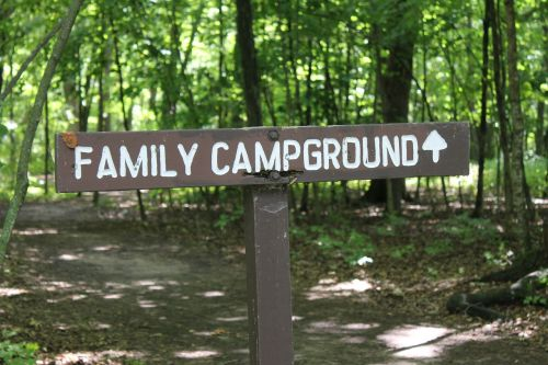 campground camping sign