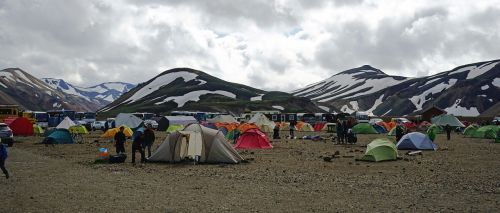 campground iceland tents