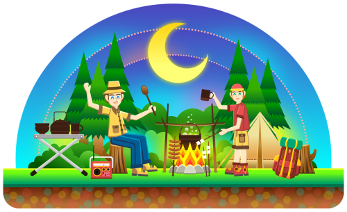 camping outdoors outdoor activity