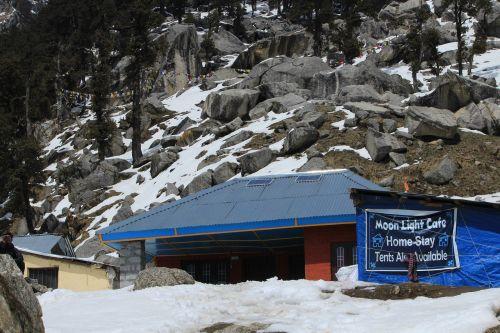 camping himalayan camp peak