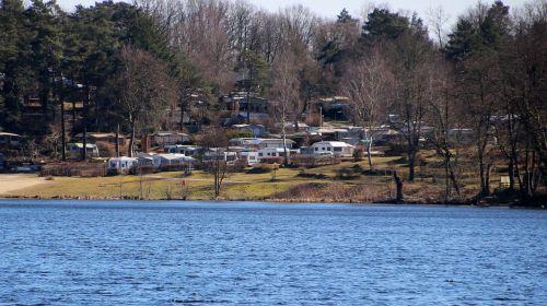 campsite water lake