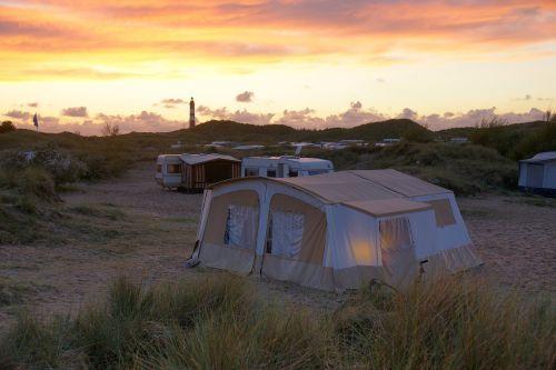 campsite folding caravan amrum