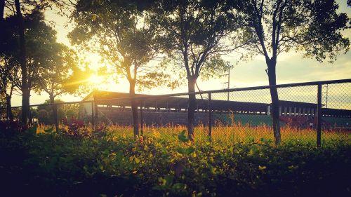 campus sunset playground