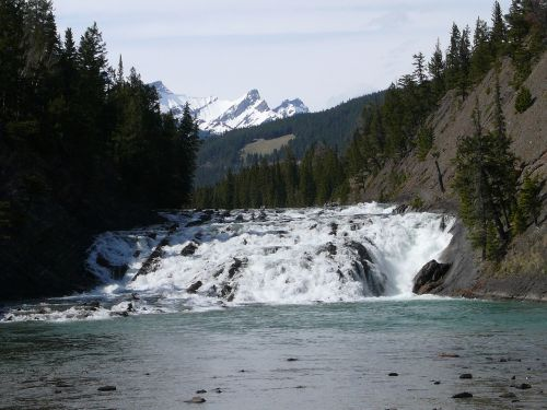 canada river waterfall