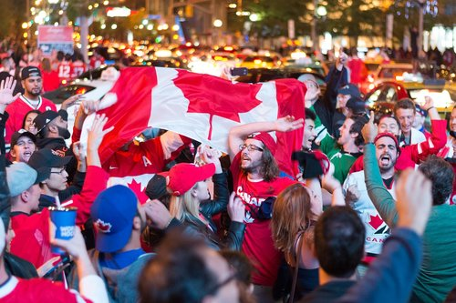 canada  hockey  celebration