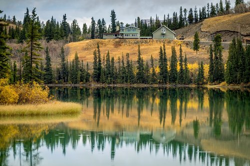 canada  carcross  lake