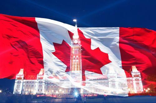 canada day flag canadian