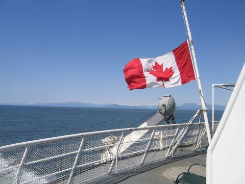 canada flag boat canada