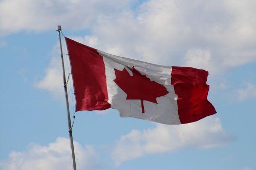 canada flag symbol powiewająca