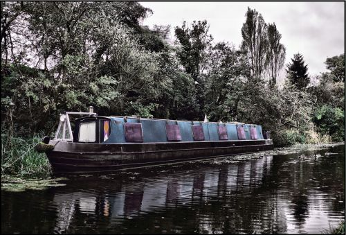 canal barge water