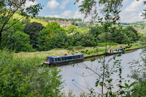 canal boat landscape