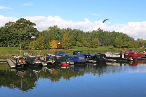 canal boat long boat boat