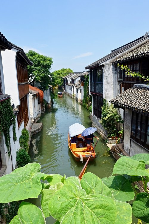 canal boat  china  canal