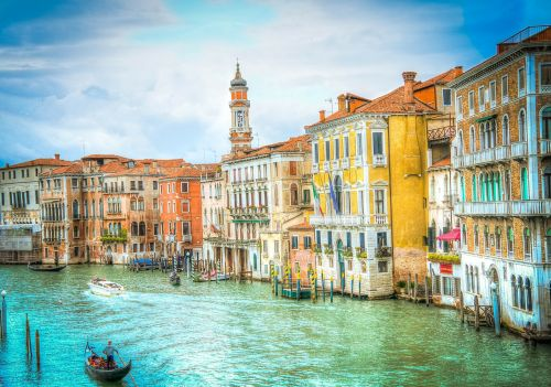 canal grande venice waterfront