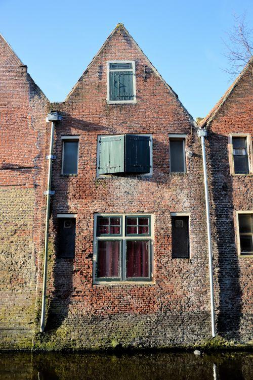 kanalas, namai, miestas, istorija, architektūra, holland, tradicija, kanalų namai