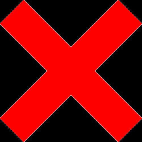 cancel delete cross