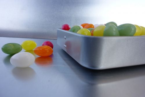 candies in tin can metal box surprise