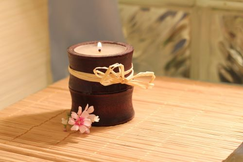 candle bamboo flame