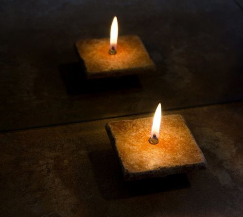 candle flame reflection