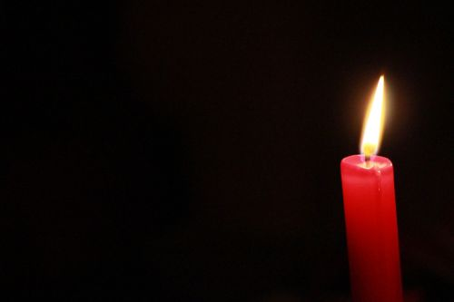 candle red flame