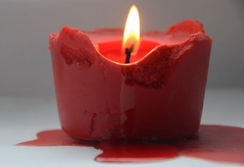 candle fire red