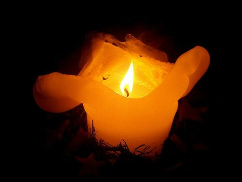 candle christmas contemplative