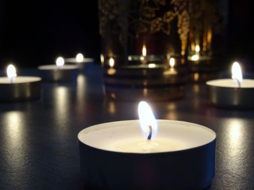 candle glow tranquil