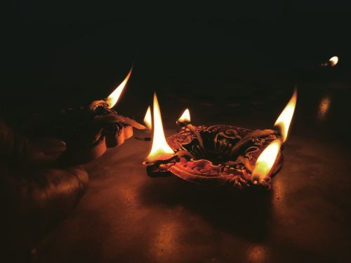 candle light fire