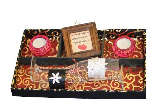 candle glass box