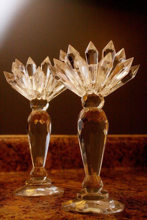 candle holder crystal