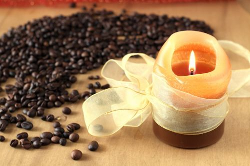 candle the aroma of coffee coffee