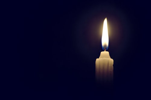 candle  darkness  flame