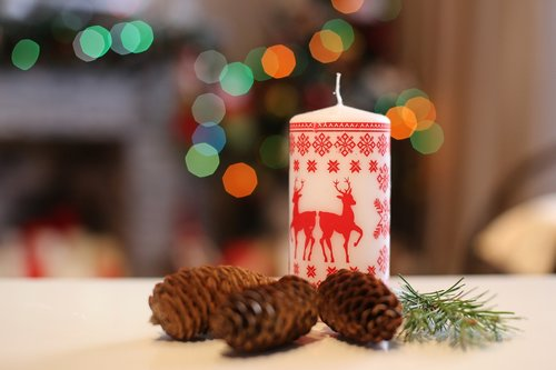 candle  ornament  cone