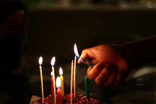 candle  fire  cake