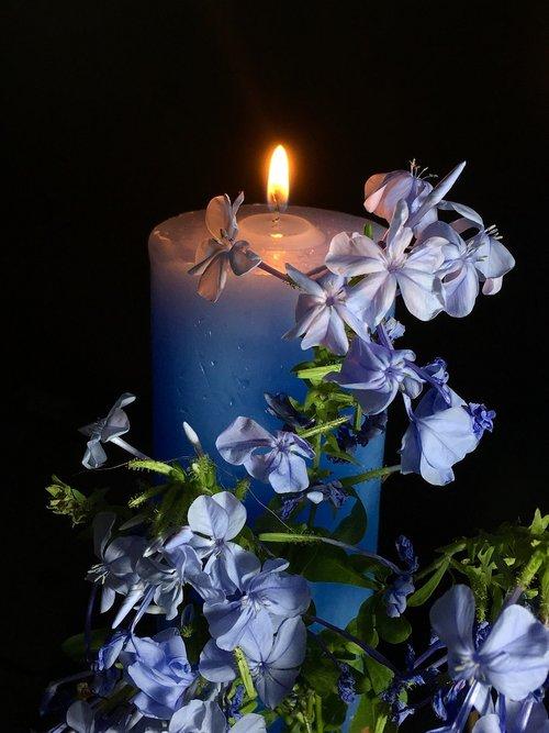 candle celestial  light  night
