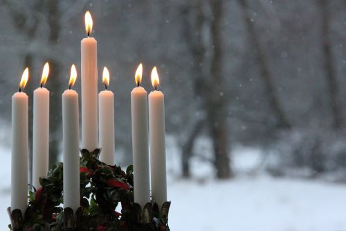 candlelight winter flame