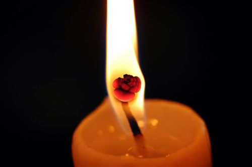 candlelight fire flame